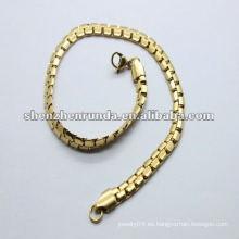 2012 pulseras simples populares del oro de las muchachas del acero inoxidable