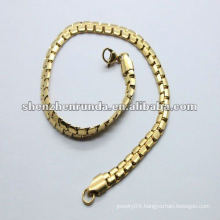 2012 popular simple stainless steel girls gold bracelets