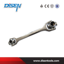12-19mm Chrome plaqué 8 en 1 Dog Dog Socket Wrench