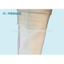 Bolsa de filtro de fibra de vidrio de la industria del cemento con membrana de PTFE
