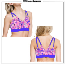 OEM Fitness Wear Sexy Top acolchoado Mulheres Yoga Sports Bra