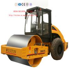 Machine de route compacteur de rouleau de rouleau de route de tambour simple du fournisseur 12-26t fiable