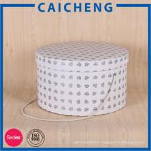 Différents types cylindre forme cadeau boîte d'emballage en papier