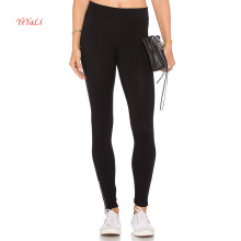 Низкая Талия застежка-молния металла на икры мода брюки