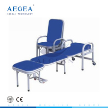 AG-AC002 Stahlmaterial PU-Sitz begleiten Stuhl Klapp Liege Krankenhausstühle