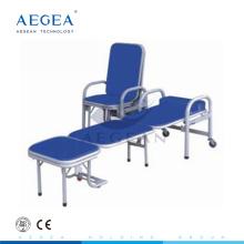 АГ-AC002 сталь Материал сиденья искусственная сопровождают стул складной полулежа больница стулья