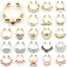 New Arrived Fake Septum Clicker Nose Ring Non Piercing Body Jewelry