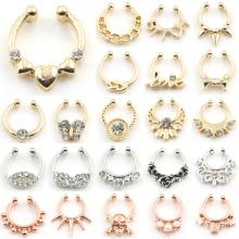New Arrived Falso Septum Clicker Nose Anel Não Piercing Body Jewelry
