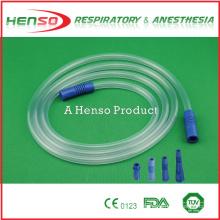 Tubo de conexión de succión estéril de PVC médico desechable HENSO