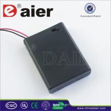 Daier 4 AAA Batteriehalter mit Deckel 6V aaa Batteriehalter