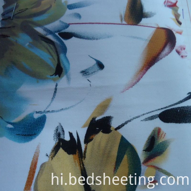 Printed 300t Cotton Sateen Fabric