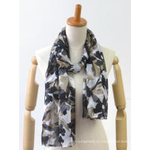индивидуальный тонкий удобный мягкий шарф с кисточкой