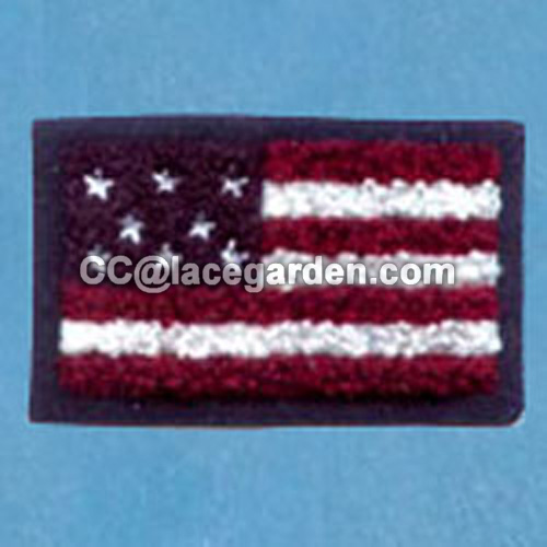 America Flag Design Chenille\Chain Embroidery Series