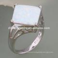 anel de opala de jóias de design de modelagem de flor