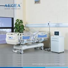 AG-BY009 cinco funciones de equipo de cuidado intensivo hospital 10 parte de cama de acero cama paciente eléctrico