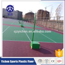 Baldosas de piso de la cancha de voleibol del deporte que entrelazan plástico al aire libre