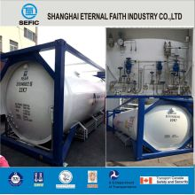 Lox Lin Lar LNG Lco2 Tank Container Asme T75 ISO Tank Container for Liquid Gas