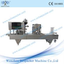 Máquina automática de sellado de vasos de jalea de frutas de tipo lineal
