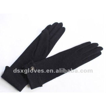 long turn cuffed cashmere gloves for women