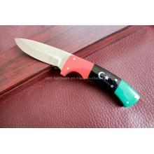 Cuchillo fijo manija colorida (SE-4046)