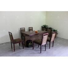 Hyacinth de água, café e conjunto de jantar, móveis em vime
