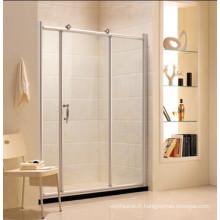 Porte de douche simple en verre trempé en verre avec cadre (R11)