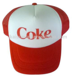 Coca foam trucker cap men hats red color printing logo snapback closure