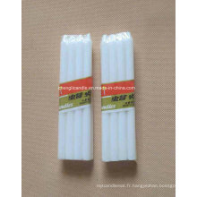 Bougies lumineuses blanches faisant des approvisionnements