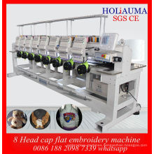 Best China Factory Price Daohao System Embroidery Machine / New 8 Head Tubular Cap Embroidery Machine