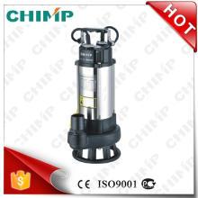 Pompe submersible d'eaux d'égout de chimpanzé 1.5kw 2inch pour des eaux usées