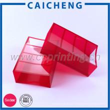 Caja de plástico transparente corrugado plegable