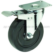 Mittelschwerer schwarzer Gummi mit Bremsenrollenrad