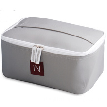 Plain Oxford Fabric Cosmetic Case with Zipper