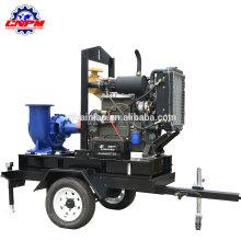 Deux roues remorque moteur diesel pompe à eau d'irrigation