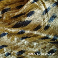 100% polyester printed velvet fabric
