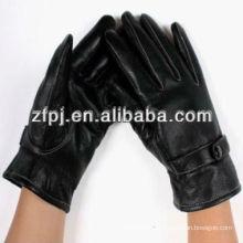 2014 nouveaux gants en cuir noir en cuir de travail fonctionnant