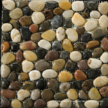 Mixed colour river polished pebble stone