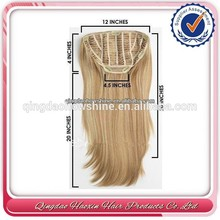 Hot sale stock brazilian hair human hair clip in hair half wig