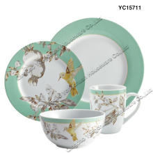 Porcelain Dinner Set Conjunto de 4