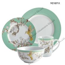 Porzellan Dinner Set Set von 4