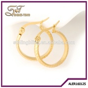 Big Hoop Earrings 18K Gold Plated Fashion Brand Vintage Punk Gold Color Jewelry/Jewellery For Women Brincos
