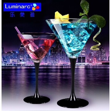 Luminarc 170ml Champagne copa de vidrio con el tallo negro (C8716)