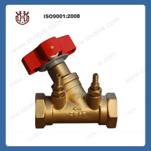 Thread brass static balance valve