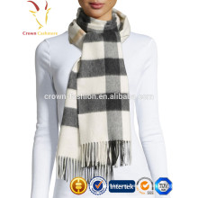 Winter Warm Woolen Plaid Scarf with tassel Wholesale