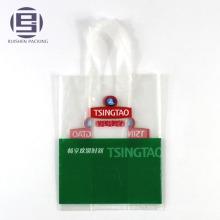 Sac à provisions avec logo en PE et boucles en plastique