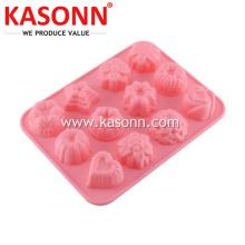 Molde de hielo de chocolate con 12 cavidades y mini caramelo de silicona