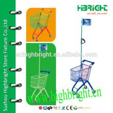 stylish Child shopping cart supermarket kids trolley
