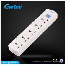 5 универсальных удлинительных гнезд Gang Switched / Power Strip / Электрическая розетка с кабелем