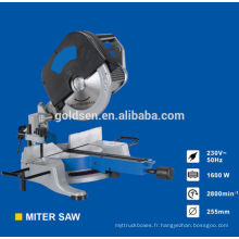 255mm 1600w Head Intachable Induction Motor Electric Power Scies à coupe en bois Aluminium Industrial Cut Off Saw Machine