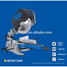 255mm 1600w Head Detachable Motor de indução de energia elétrica Wood Cutting Saws Alumínio Cut Cut Industrial Saw Machine